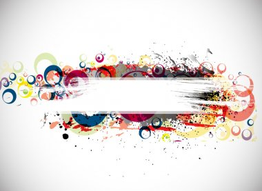 Abstract colorful banner background