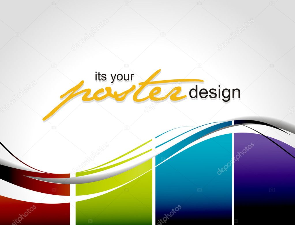 Poster design vector graphics - Abstract Background With Colorful Design For Text Project Used Vector Illustration Vector By Redshinestudio