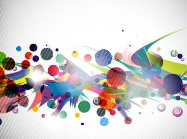 Abstract colorful futuristic design
