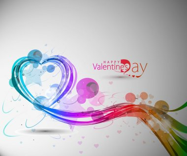 Abstract valentines day colorful heart design element background. clip art vector