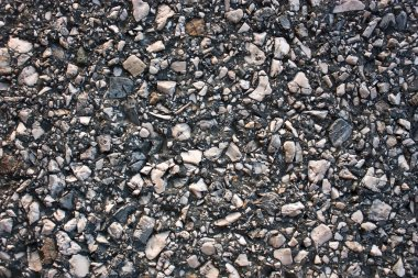 Road surface of crushed stone marble