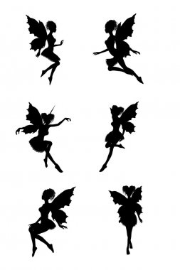Fairy silhouettes stock vector