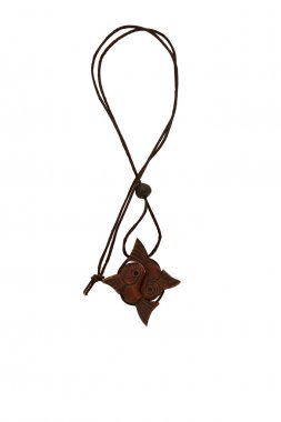 Wooden amulet in the form of fish