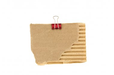 Cardboard with metal paper clamp