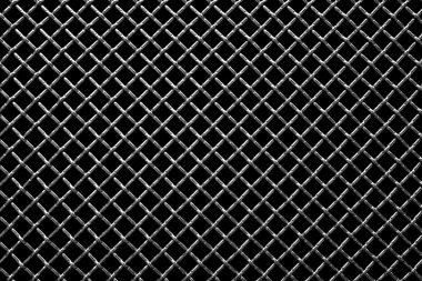 Metal grid on a black background