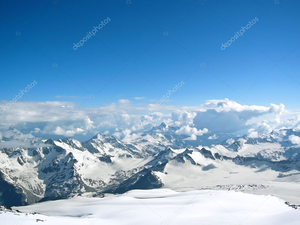 High mountains in winter