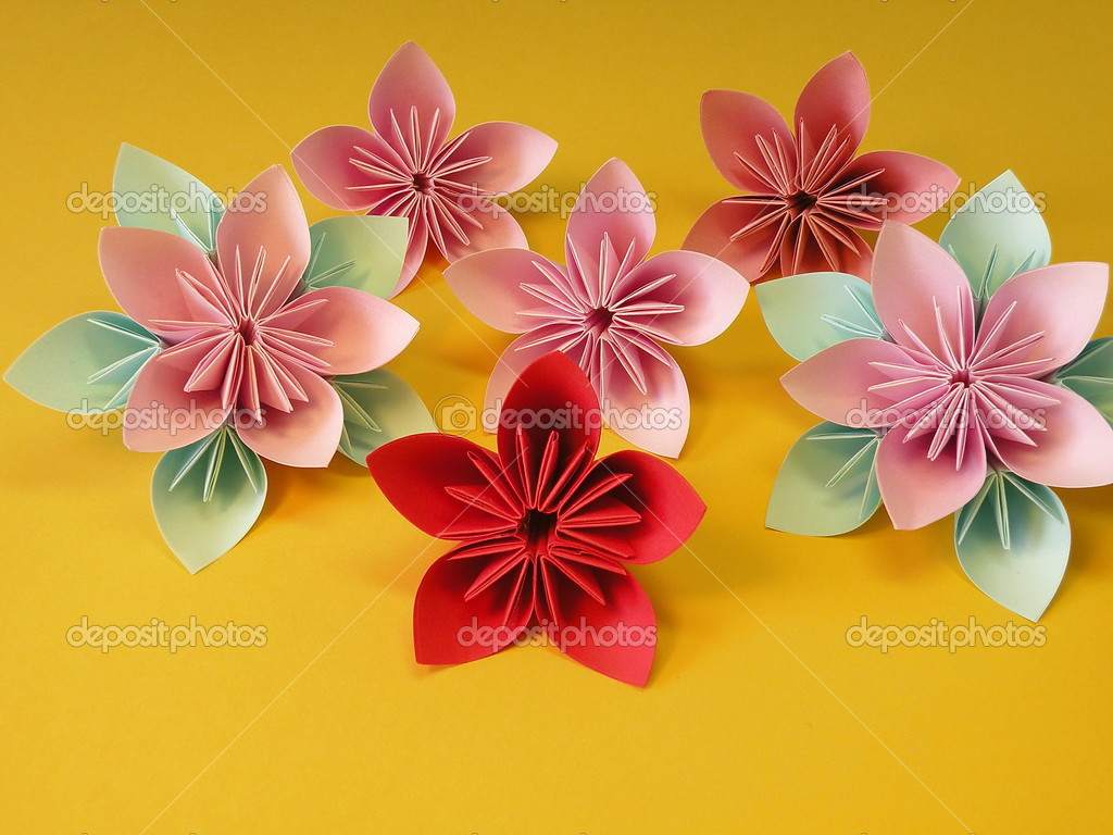 Origami Flowers Stock Photo Andriuss 3341870
