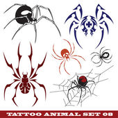 Sablonok pókok tetoválás