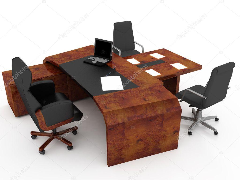 Mobili Per Ufficio Su : Set di mobili per ufficio u foto stock kash
