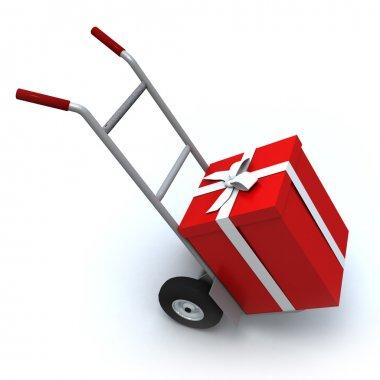 Big red gift box