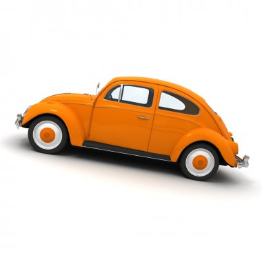 European orange vintage car