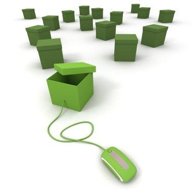 Order online in green