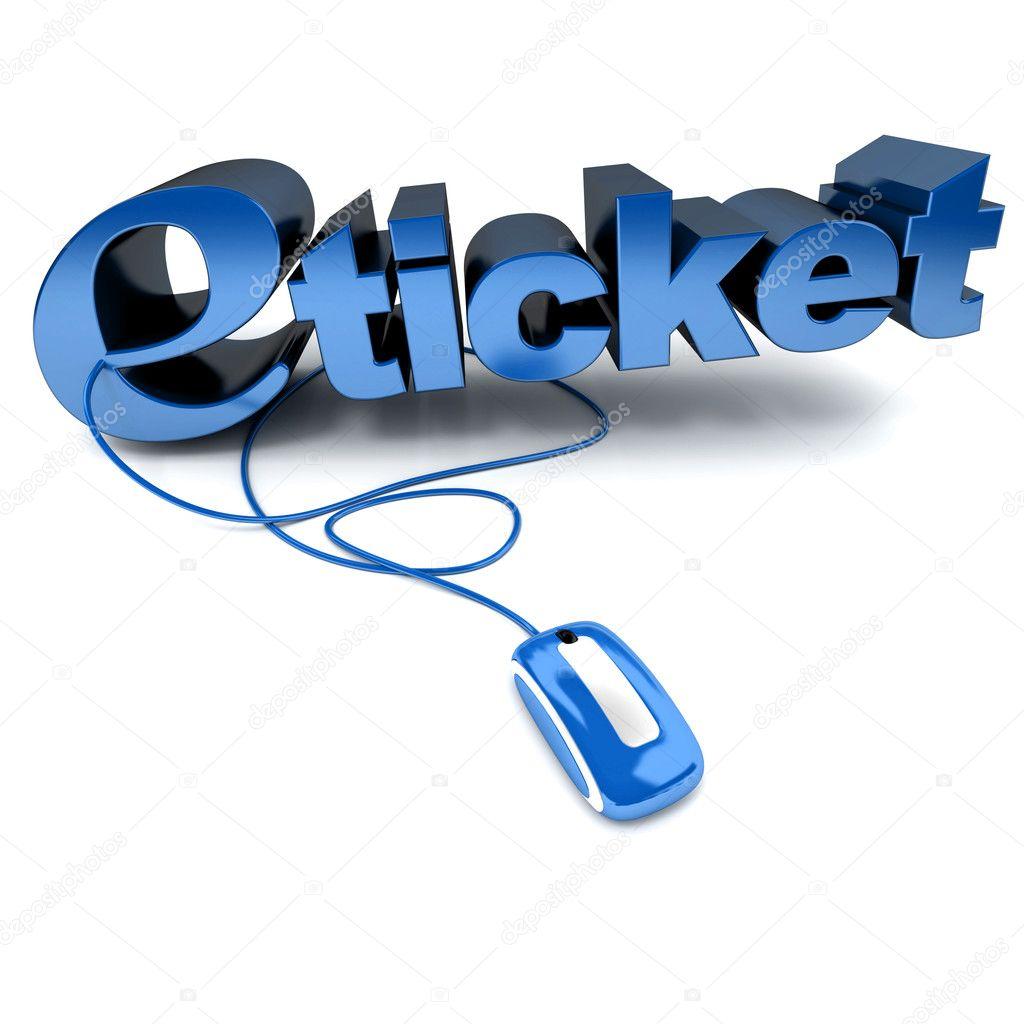 e-Ticket in blau — Stockfoto © franckito #3515173