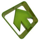 Green plastic arrow