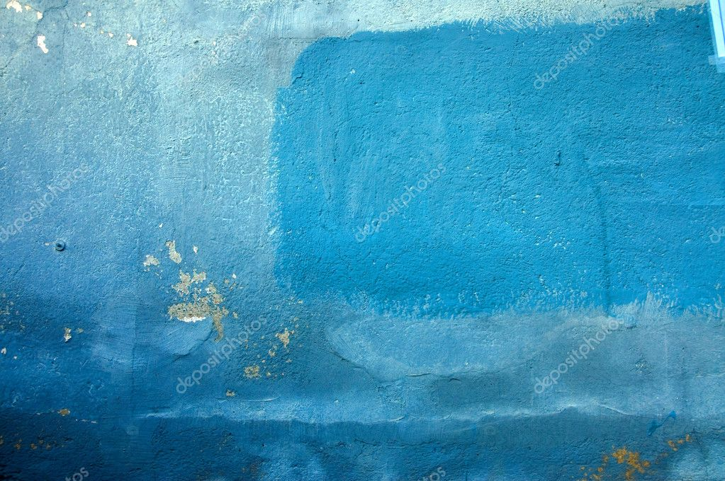 Shades Of Blue Paint old wall in different shades of blue — stock photo © franckito