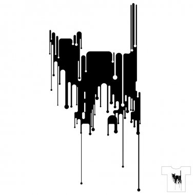 T-shirt Design. Black Cat.