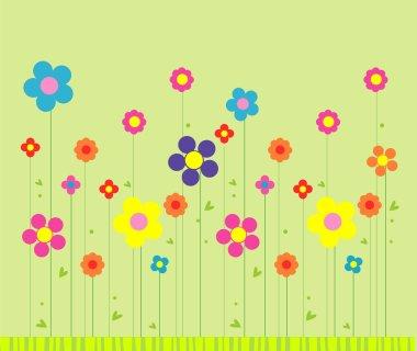 Stylish flower background