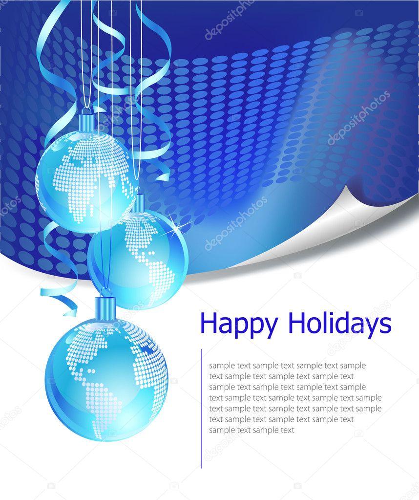 Christmas business greeting card — Stock Vector © azzzya #2834769