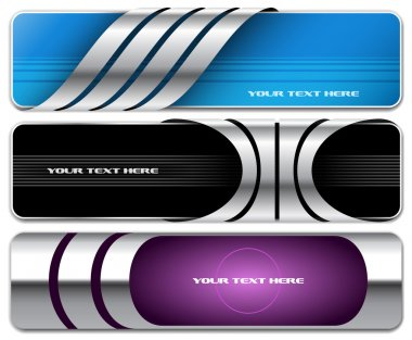 Abstract banner set 3