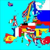 Fotografia mappa di Europa