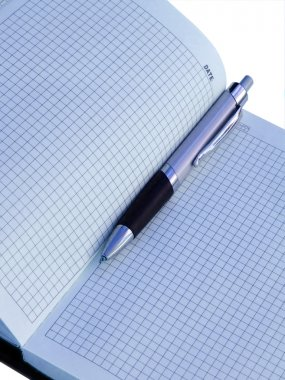 Pen in a diary