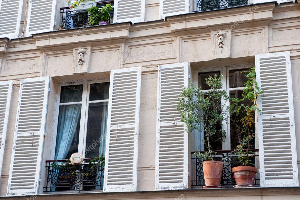 Französische Fenster typische französische fenster — stockfoto © ivonnewierink #3516022