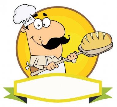 Cartoon Logo Mascot-Bread Baker Man
