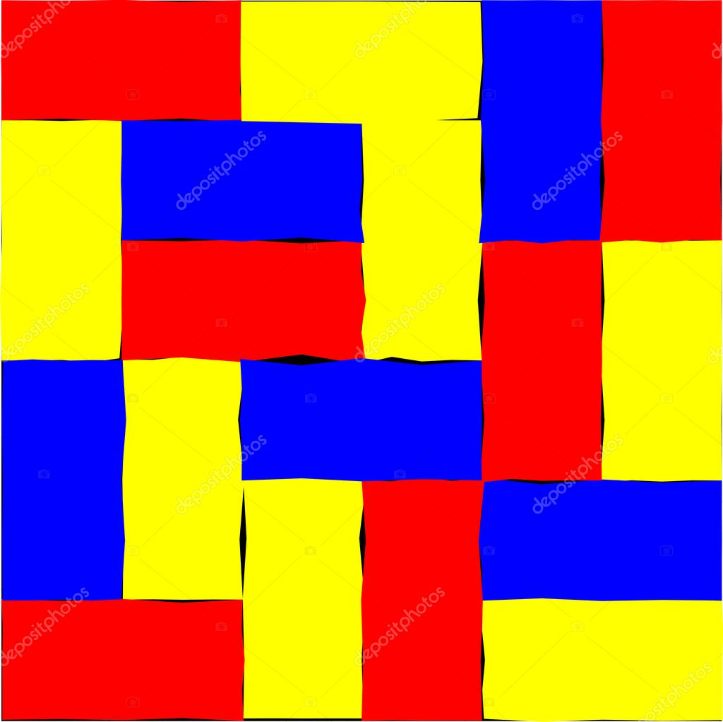red yellow and blue rectangles stock vector annavee 3088326. Black Bedroom Furniture Sets. Home Design Ideas