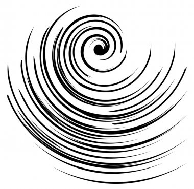 Black and white spiral vector