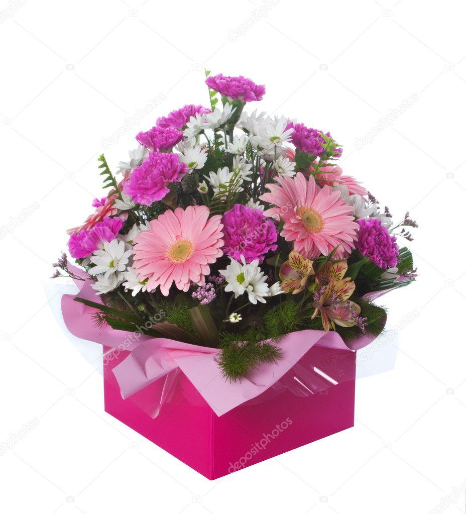 Arrangement De La Fleur En Boite Rose Photographie Bluewren C 3257948
