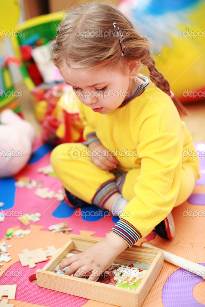 Cute child playing