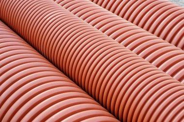 Plumbing tubes close-up