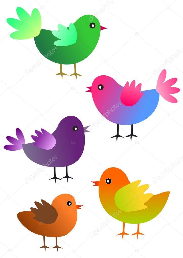 Decorative birds stock vector zuzanaa 2999162 for Artificial birds for decoration