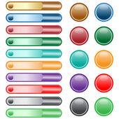 Web-Schaltflächen, die in verschiedenen Farben festgelegt
