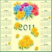 Kalendář 2011 s květinami