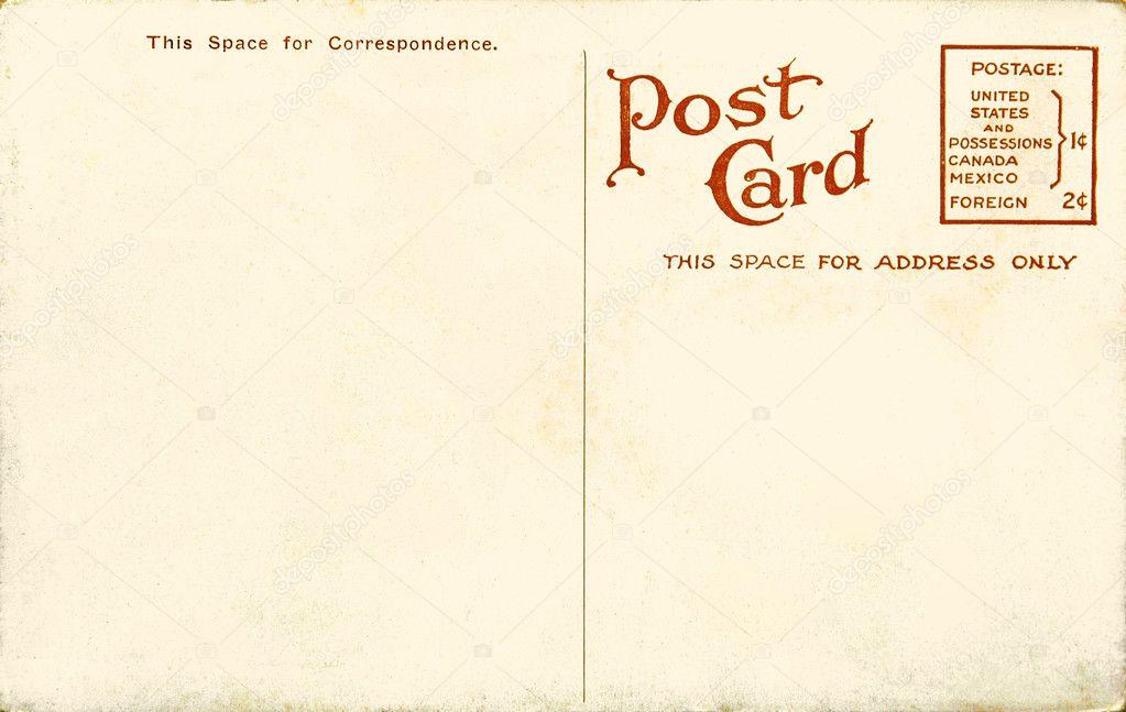 vintage blank postcard stock photo miiisha 2780537