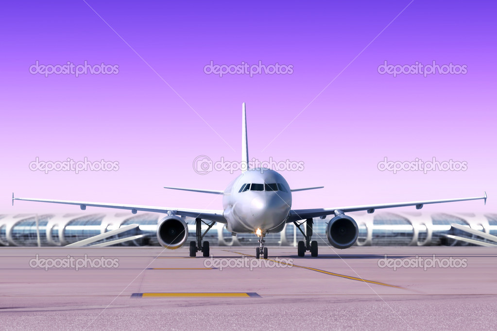 Not big plane at airport