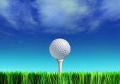 Tee a golfový míček