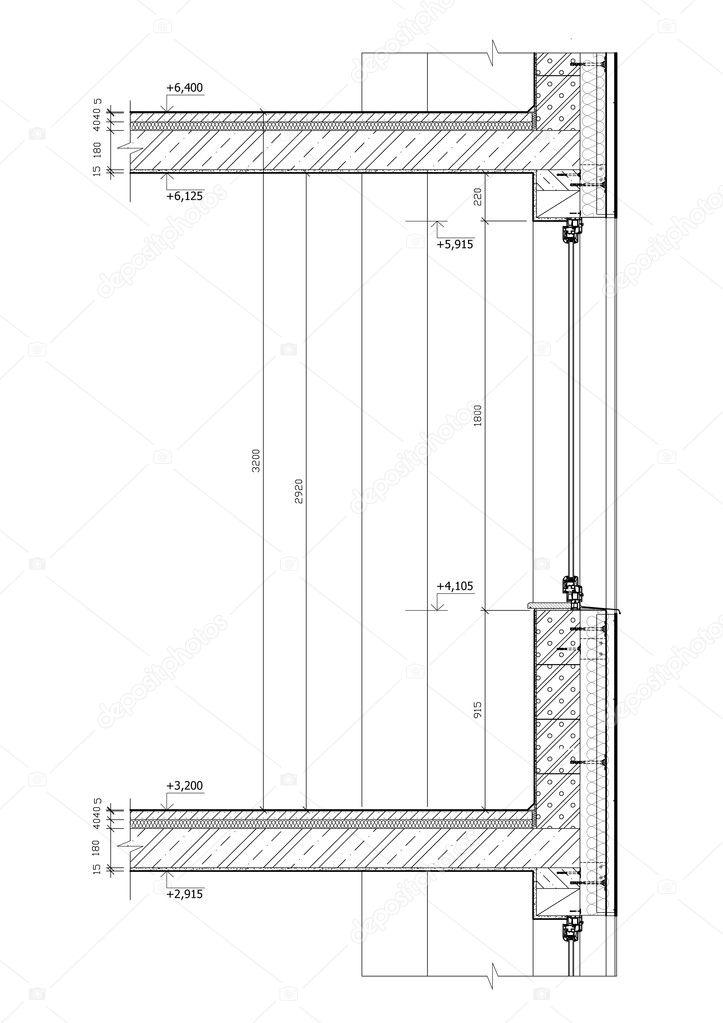 Construction Drawing Stock Photo 169 Jakubcejpek 3121234