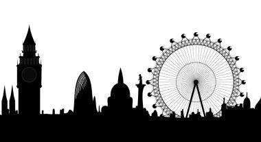 Panorama of London - vector