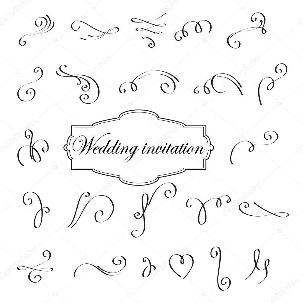 Vector ornamental elements