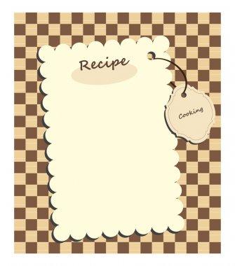 Vector card for recipe