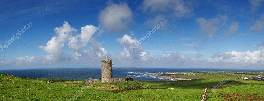 Doonagore castle panoramic
