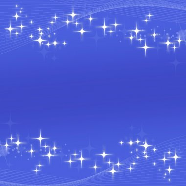 Abstract blue background with stars and stripes stock vector