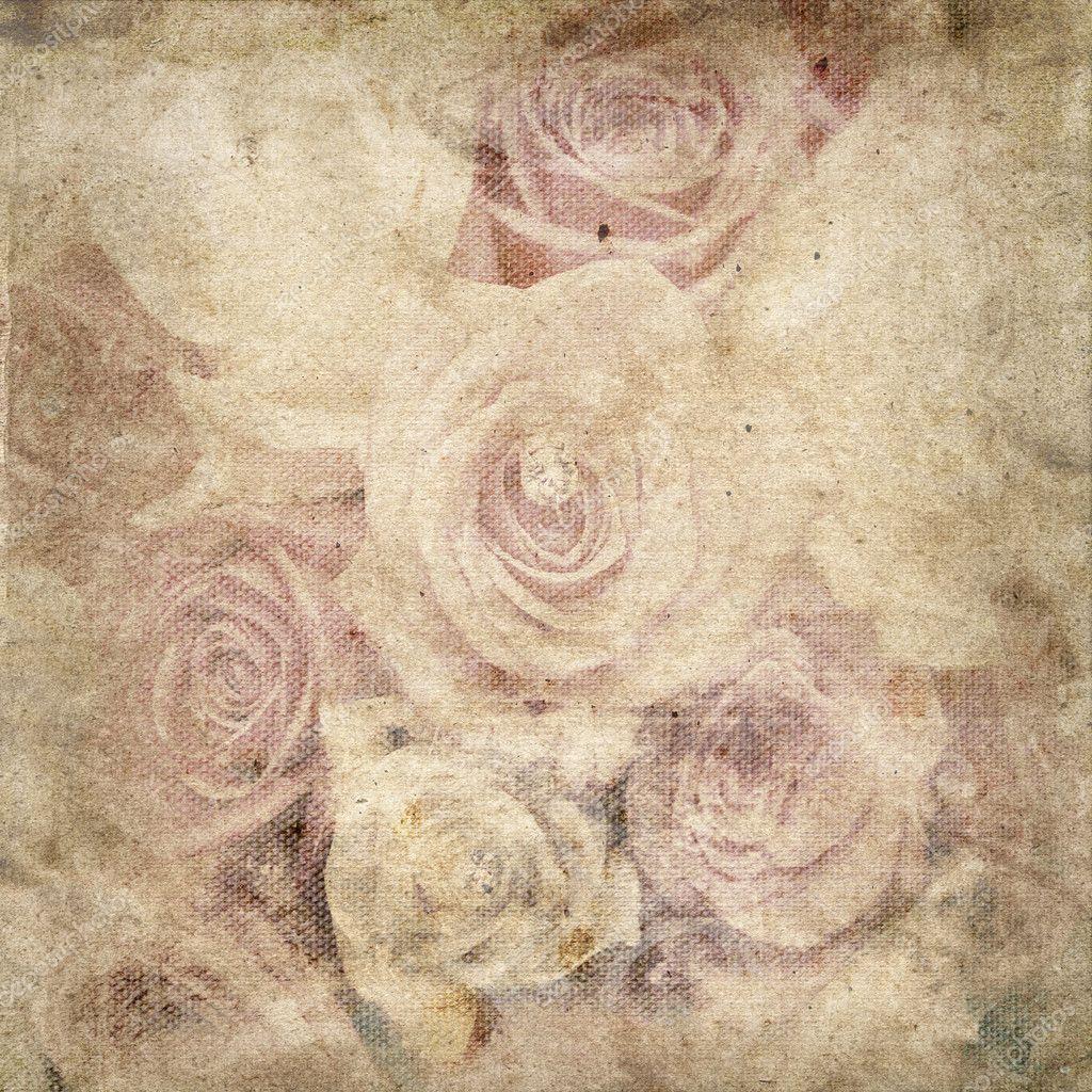 Vintage romantic flowers background