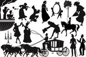Old-fashioned silhouettes