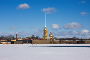Peter and Paul Fortress in early spring