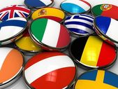 Fotografie Europe flags