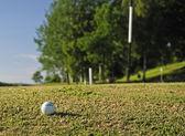 golfový míček na správné cestě