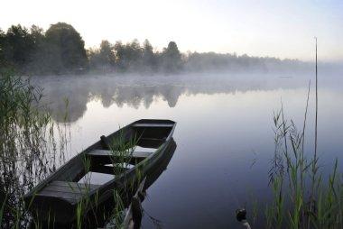 August morning lake